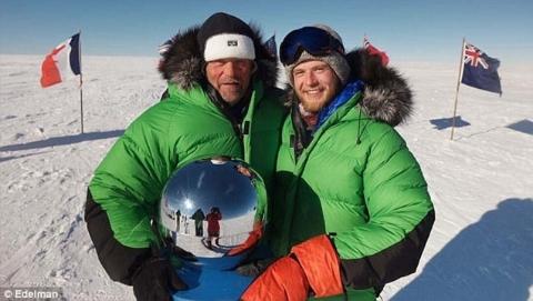 首个到过南极和北极的人  携子57天徒步南极仅依靠再生能源