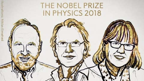 """温柔而强悍的物理之光精准""""照亮""""世界  2018诺贝尔物理学奖授予3位激光科学家"""