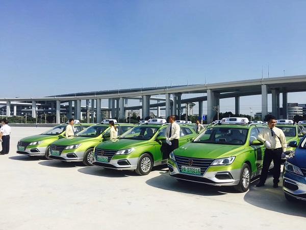进口博览会专属车队成立 350辆纯电动出租车今天发车(市交通委供图).jpg