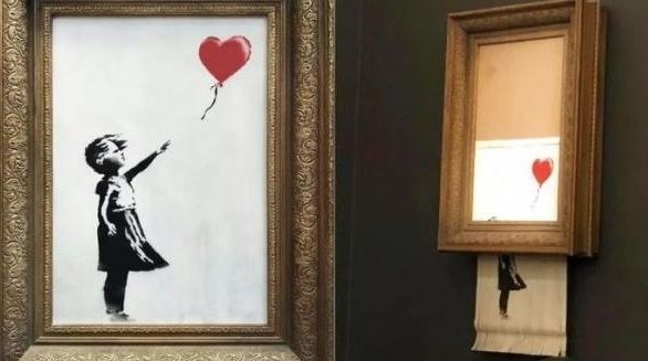 用百万英镑开个艺术玩笑?英国街头艺术家拍卖会上做出惊人之举
