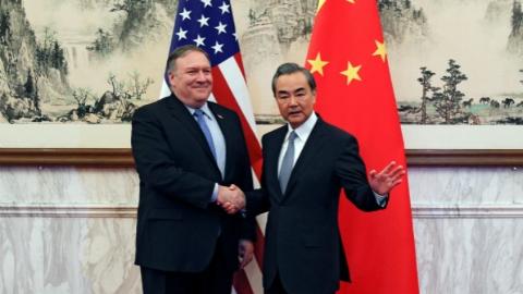 王毅会见美国国务卿蓬佩奥:合作是双方唯一正确选择