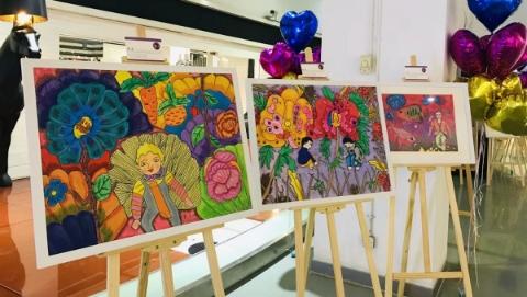 4位四川特殊少年上海办画展