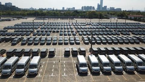 进口博览会最大贵宾接待车辆停车场改建完成 细节可参考特工大片