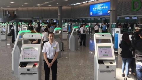 视频直击:虹桥机场T1完成改造启用首日  九成旅客尝鲜自助
