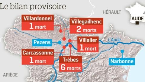 法国奥德省洪灾致11人死亡 谁是罪魁祸首?