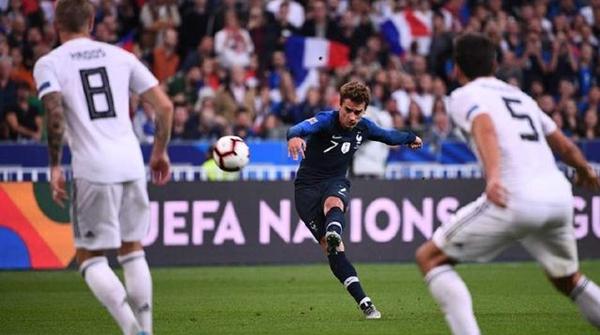 欧洲国家联赛遭法国队逆转,德国战车面临提前降级