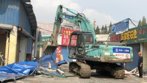 """虹口区迎接进博会再出""""重拳"""" 广粤路1.2万平方米违法建筑今起拆除"""