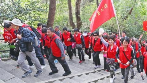 赏秋景庆佳节:千余老人重阳佘山登高