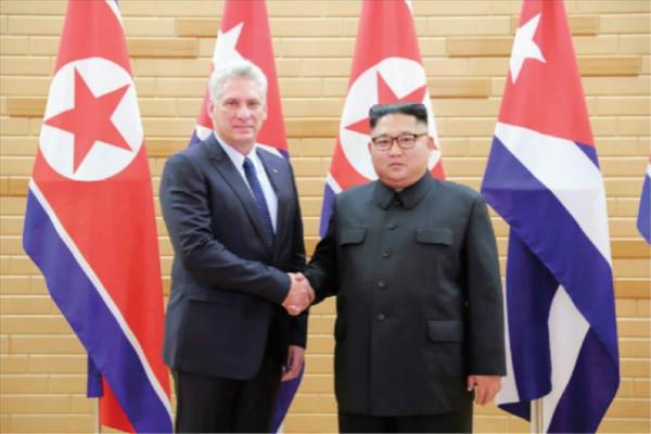 金正恩与古巴领导人会谈 强调进一步发展友好关系