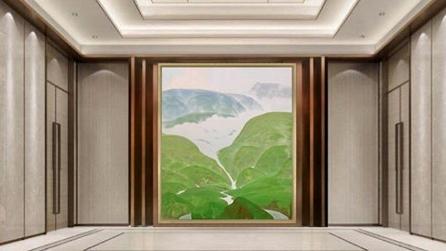 肖谷作品亮相进博会,绿水青山,能不忆江南?