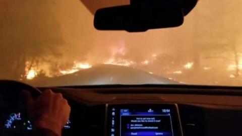 本报驻美记者目击加州山火肆虐