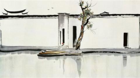 北京保利牵手Art021当代艺术博览会 吴冠中《双燕》国画油画合璧出展