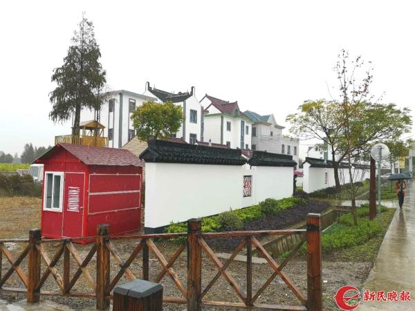 图说:金山漕泾镇水库村今年成功入选上海市级美丽乡村示范村.范洁 摄