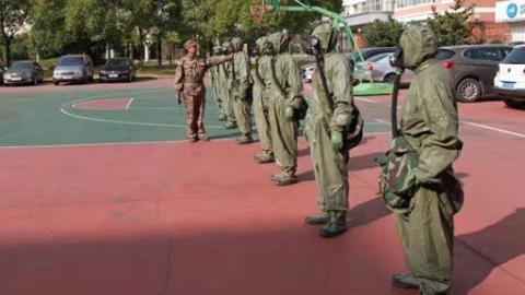"""上海市举行基层专武干部新""""民兵军事训练大纲""""集训"""