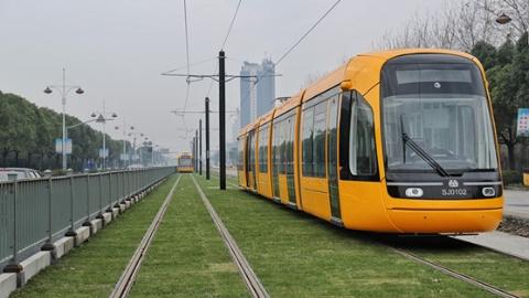 松江有轨电车2号线本月26日开通试运营,多级票价2元起步