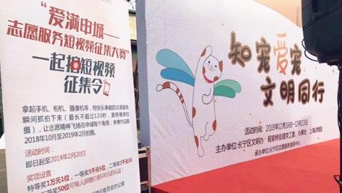志愿服务短视频征集中 长宁区成立志愿者联盟,倡导居民文明养宠