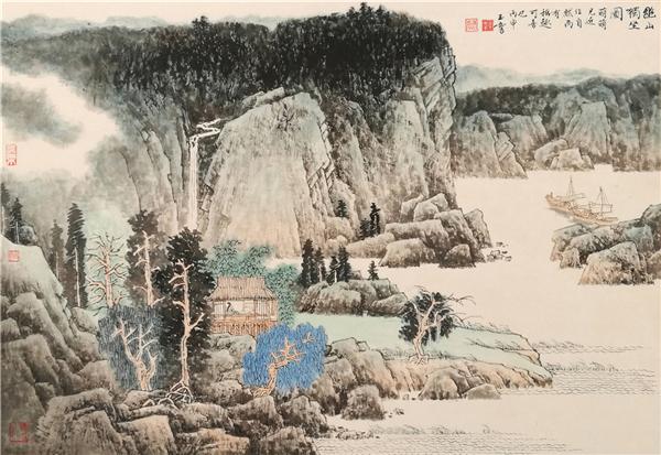 他的个人油画风景画展曾在江苏省美术馆展出,可以看得出法国印象派