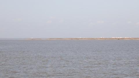 长江口南槽航道治理一期工程上午开工