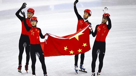 短道速滑中国日!中国男队夺得平昌冬奥会短道男子5000米接力银牌