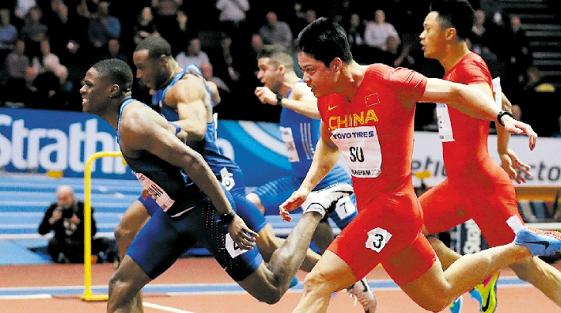 苏炳添如虎添翼 今晨室内田径赛60米决赛破纪录夺银牌