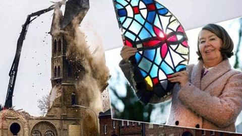 欧洲教堂玻璃花窗夷为废墟,谁来拯救这没落的艺术?