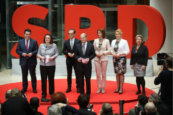 德国新政府成员人选确定 6个部长来自社民党