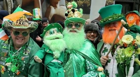 """蒙特利尔""""圣帕特里克节"""":爬上绿帽子的凯尔特精灵"""