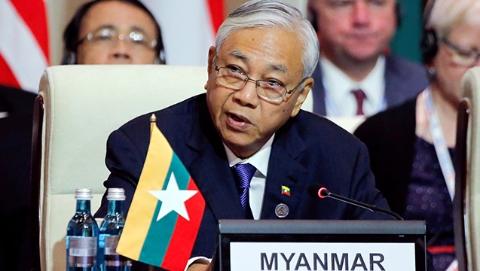 缅甸总统吴廷觉辞职 人民院议长吴温敏或成新总统