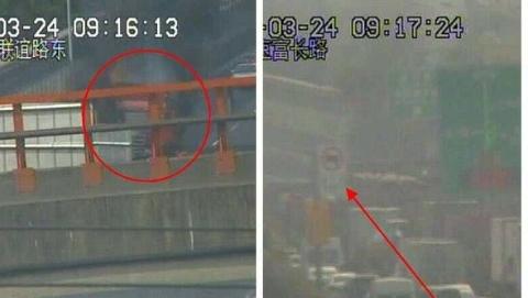 今晨S20内圈联谊路一辆货车突然起火