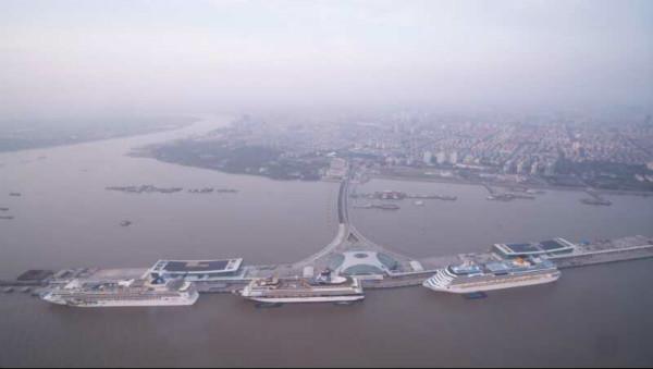 上海吴淞口国际邮轮港首迎三船同靠