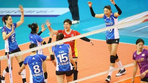 3:0!上海女排主场击败天津 扳平总比分