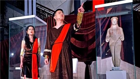 """上海博物馆变身戏剧舞台!科拉雕像前献演起了悲剧""""美狄亚"""""""