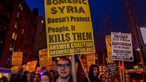 叙利亚谴责美英法发动军事打击