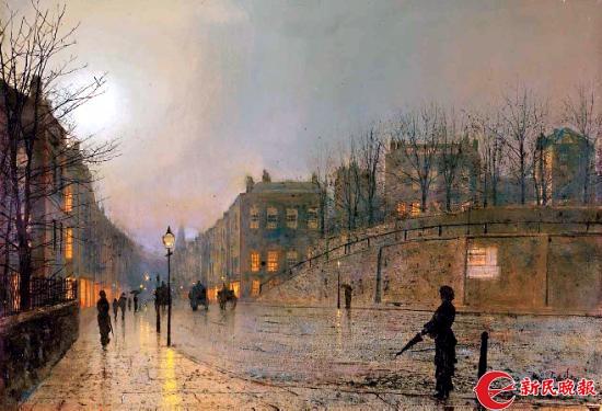 《希思街夜色》阿特金森·格里姆肖(1836-1893)-郭新洋.jpg