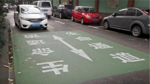 """让救护车、消防车不再被阻……上海首条""""生命通道""""在松江一小区启用"""