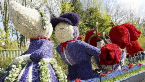 荷兰迎年度花车大游行 中国主题花车亮相