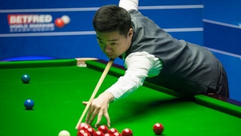 丁俊晖后来居上 斯诺克世锦赛首轮6比3领先肖国栋