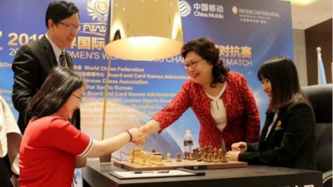 世界棋后挑战赛第二局 居文君后走击败谭中怡