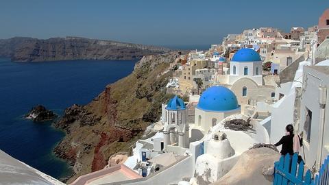 希腊旅游撒狗粮