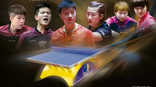 蓝配黄 喜洋洋 上海红双喜乒乓台成世乒赛靓丽风景