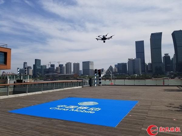 无人机实现全景饥饿4k视频即拍即传上海向5G世界高清视频大全鲨图片