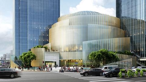徐家汇港汇恒隆广场39级大台阶开始改造,将变身开放式文化艺术广场