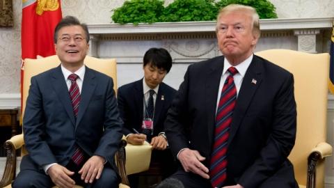 """特朗普:""""特金会""""可能会推迟 韩国仍对如期举行表乐观"""
