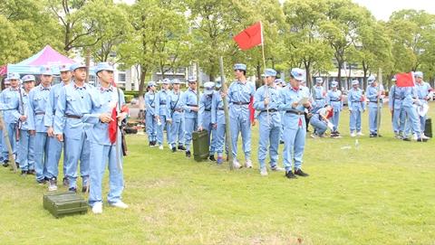 """上海市大学生军事社团首次举行""""红军行""""主题活动"""