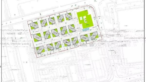 北蔡这个地块拟建18幢办公楼,设计方案正在公示