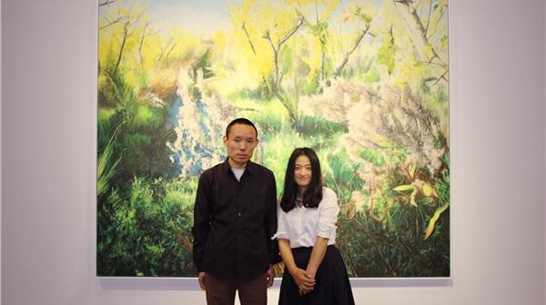 上海的初夏,在兀鹏辉的画中闻一闻碧绿的香味