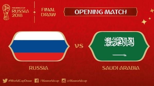 世界杯揭幕战 做好战斗准备的俄罗斯VS想当小组第一的沙特