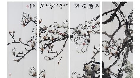 徐晋平国画在刘海粟美术馆展出