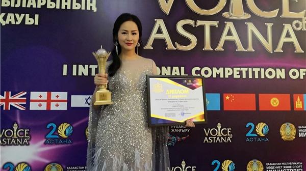 """中国歌手林宝在""""阿斯塔纳之声""""国际流行演唱大赛获奖"""