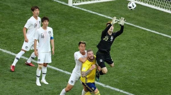 """""""神""""门将难敌""""坑""""队友 世界杯首战韩国一球不敌瑞典"""